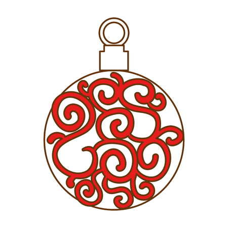 christmas ball hanging icon vector illustration design Stock Vector - 92298469