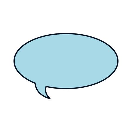 Speech bubble isolated icon  illustration design. Ilustracja