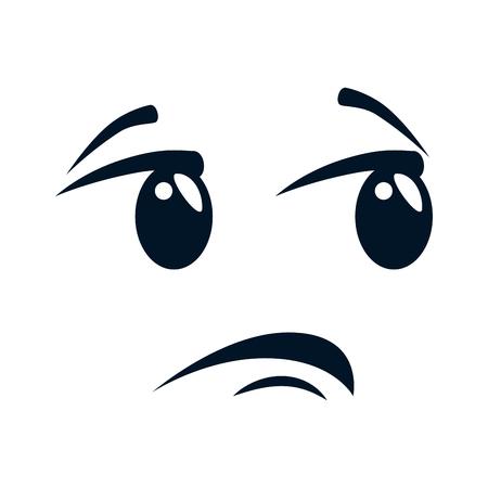 Terrified face character illustration design. Illustration