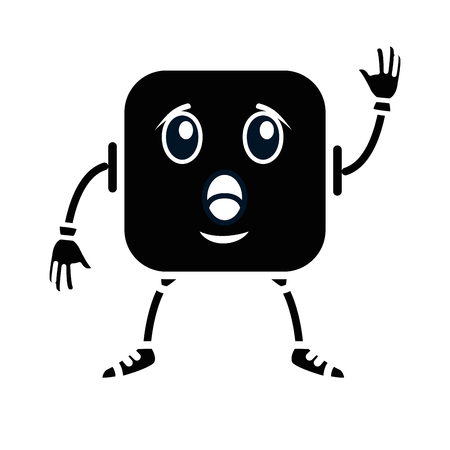 terrified face emoji character vector illustration design