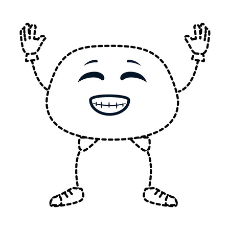 happy emoji  character vector illustration design