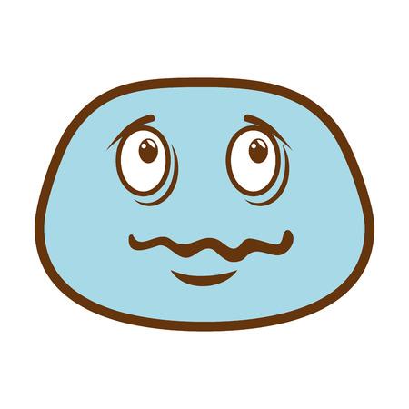 sick face emoji character vector illustration design