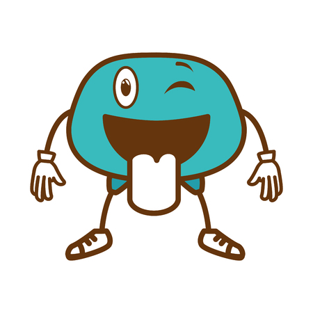 crazy face emogi character vector illustration design
