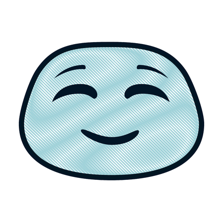 happy emoji character vector illustration design Ilustracja