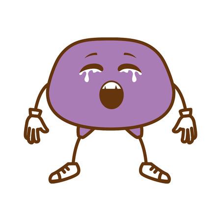 crying face emoji character vector illustration design