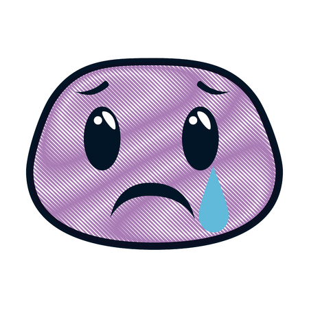 crying face emoji character vector illustration design