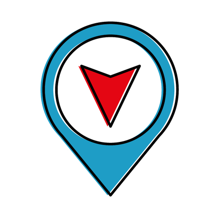 pin pointer location with arrow vector illustration design