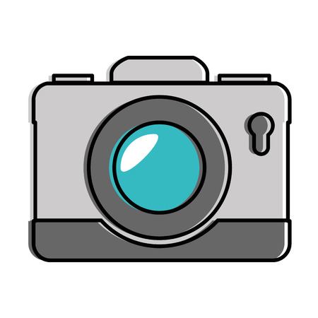 Camera photographic isolated icon vector illustration design Illusztráció