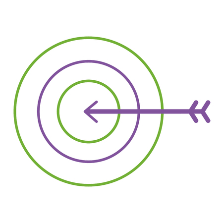 A business target arrow strategy symbol vector illustration