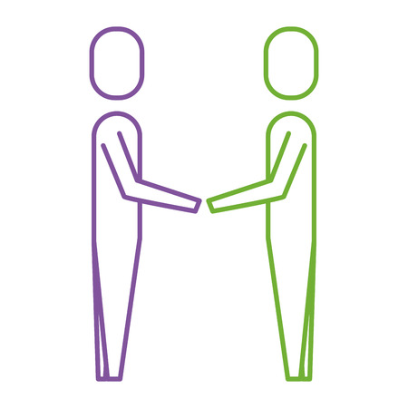 A business men hands shake teamwork vector illustration