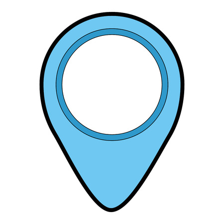 A pin pointer location with arrow vector illustration design 向量圖像