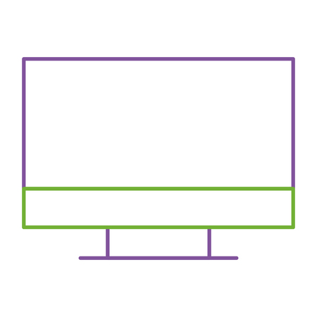 A monitor computer device work equipment vector illustration 向量圖像