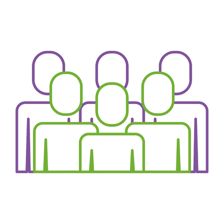A portrait business people teamwork partnership vector illustration Illustration