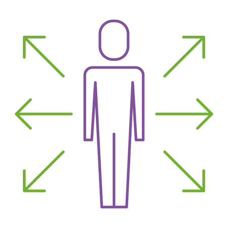 A businessman options arrows direction choise vector illustration Banque d'images - 92317916