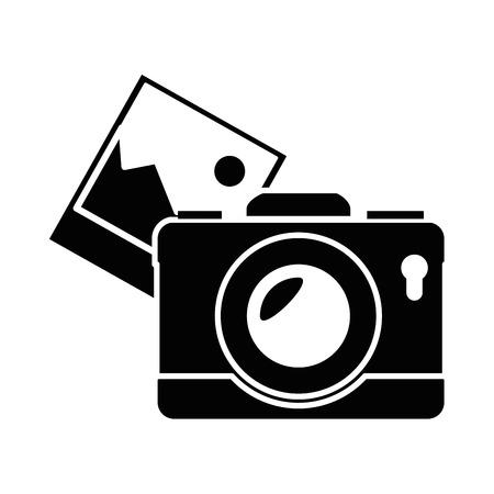 그림 벡터 일러스트 디자인으로 카메라 사진