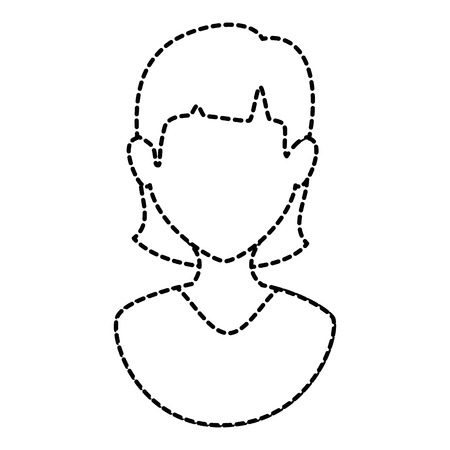 A woman female avatar character vector illustration design