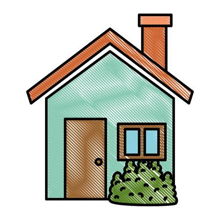 家分離シルエット アイコン ベクトル イラスト デザイン