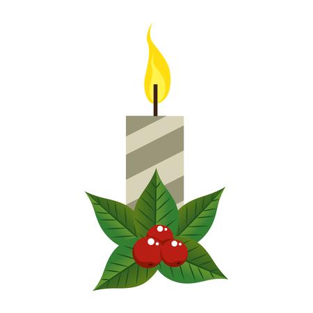 Diseño de ilustración de vector de icono decorativo de velas de Navidad Foto de archivo - 92319127