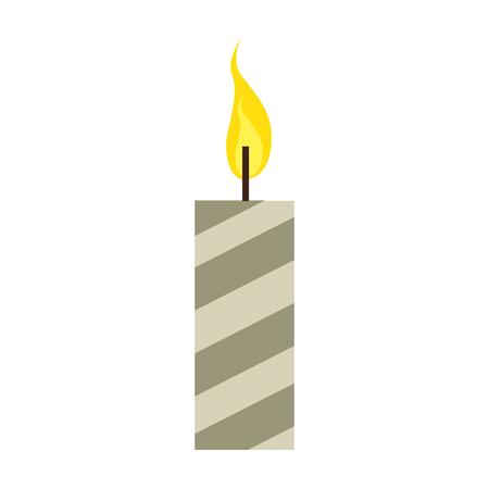 christmas candles decorative icon vector illustration design Foto de archivo - 92319123