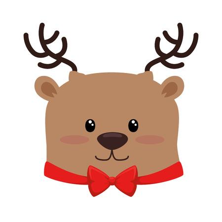 Het leuke ontwerp van de het karakterillustratie van het Kerstmisrendier Stockfoto - 92320174