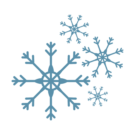 snow flake isolated icon vector illustration design