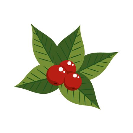 christmas leaves decorative frame vector illustration design Stock Vector - 92320095