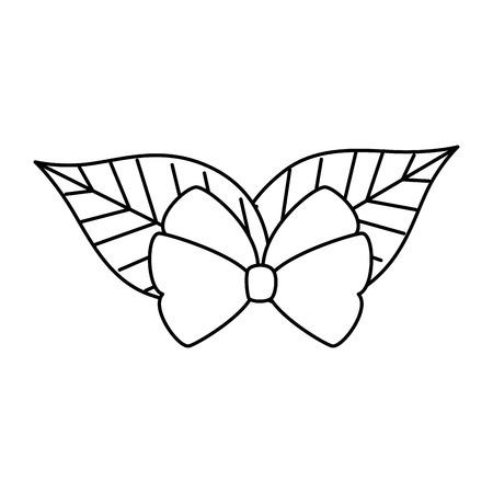 christmas leafs decorative frame vector illustration design Stock Vector - 92339043