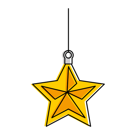 Christmas star decorative icon vector illustration design