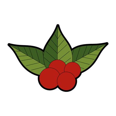 Christmas leaves decorative frame vector illustration design Illustration