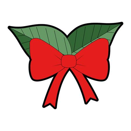 Christmas leaf decorative frame vector illustration design
