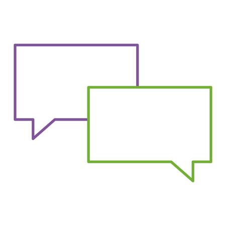 スピーチバブルメッセージトークチャットアイコンベクトルイラスト。