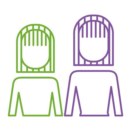 Portrait business people teamwork partnership vector illustration.
