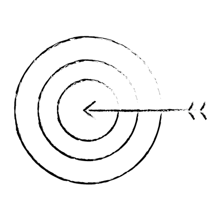 business target arrow strategy symbol vector illustration sketch design