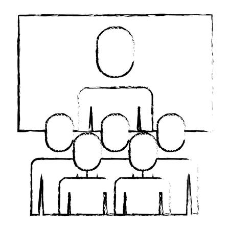 Business meeting manager group board illustration sketch design.