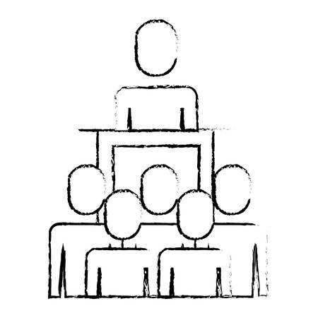 meeting business people with podium presentation vector illustration