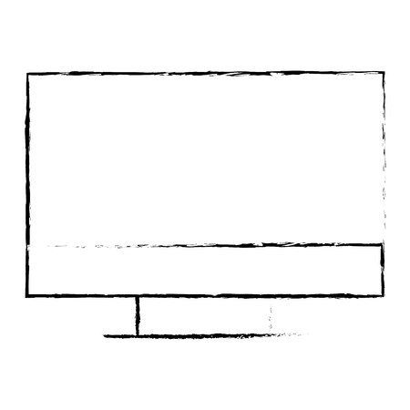 monitor computer vector illustration sketch design