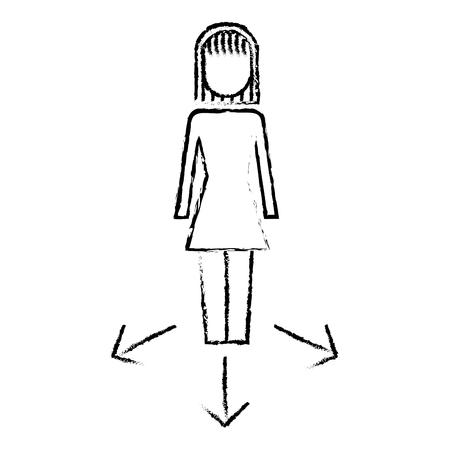 사업 옵션 화살표 방향 선택 벡터 일러스트 스케치 디자인