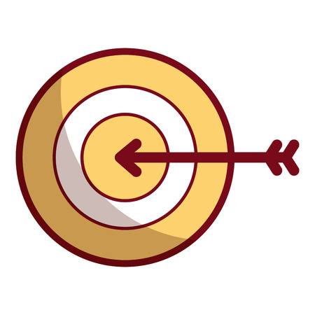 Business target arrow strategy symbol vector illustration shadow design