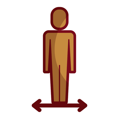 Businessman manager success male character illustration shadow design.