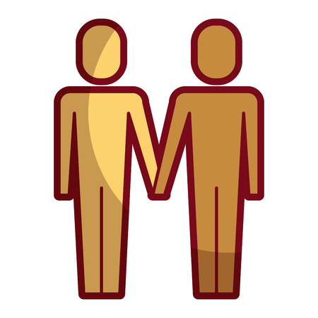 standing business people teamwork partnership vector illustration shadow design Illustration