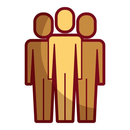 Portrait business people teamwork partnership illustration.