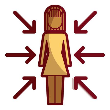 Donna con l'icona di frecce. Archivio Fotografico - 92363086