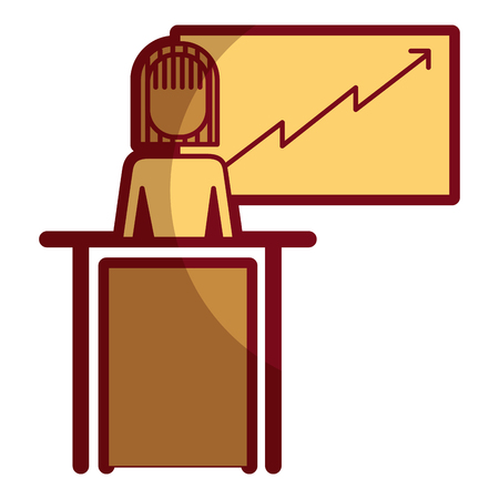 Woman making a business presentation icon. Ilustração