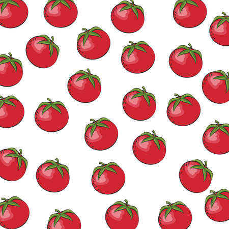 seamless pattern tomato vegetable diet vector illustration