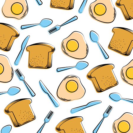 Modello di pane e uova. Archivio Fotografico - 92364208