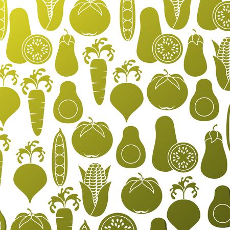 野菜のパターン。