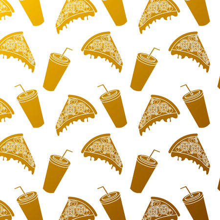 Pizza and soda pattern.