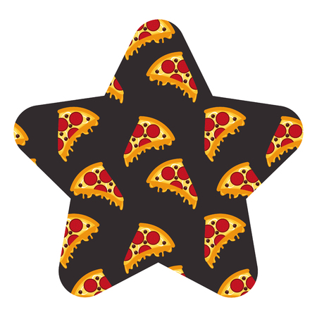 fast food pizza seamless pattern vector illustration star shape design