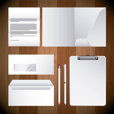 corporate identity template design empty business stationery vector illustration Illusztráció