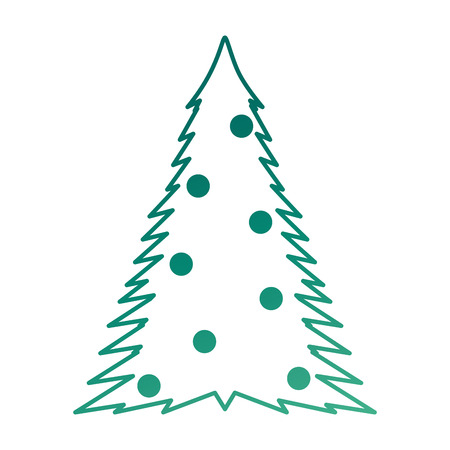 christmas tree isolated icon vector illustration design